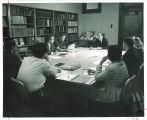 Curt A. Zimansky conducts graduate seminar, The University of Iowa, 1960s