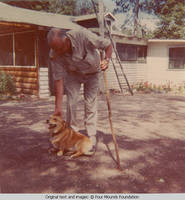 Bill Burden and dog