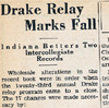 Drake Times-Delphic, 1932, Drake Relay Marks Fall