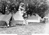 Student's tent, Iowa City, Iowa, 1926