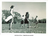 Students golfing, The University of Iowa, 1930s