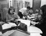 Botany students in laboratory