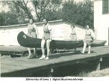 Canoe on  dock, The University of Iowa, 1937