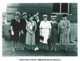 Women gathered for reunion, The University of Iowa, 1940s