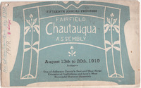 1919 Fairfield Chautauqua program