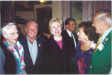 Louise Noun, Bill Knapp, Hillary Clinton, and Liz and David Kruidenier, Iowa, July 2000