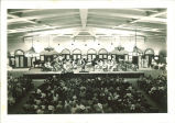 University Orchestra with cello soloist performing in Iowa Memorial Union, The University of Iowa, 1930s