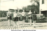 Choosing a paddle, The University of Iowa, 1930s