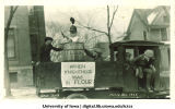 Mecca Day parade float, The University of Iowa, 1923