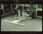 Small boys building with wood blocks, The University of Iowa, February 22, 1938