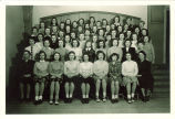 Students and teachers in Home Economics Dept., The University of Iowa, November 22, 1944