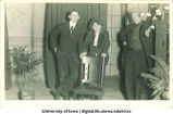 Three actors in theatrical production, The University of Iowa, ca. 1920