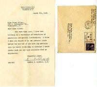 Samuel X. Radbil letter to Helen Patricia (Patsy) Wilson exchanging bookplates.