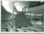 Stairs to Burge Residence Hall lounge, the University of Iowa, circa 1958