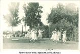 Women dancing at a June celebration, The University of Iowa, 1920