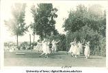 Women dancing at a June celebration, The University of Iowa, 1920