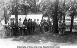 Camp chow line, The University of Iowa, 1913