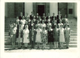 All-State students on steps of Old Capitol, The University of Iowa, 1929