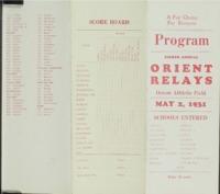 Orient Relays - 1931