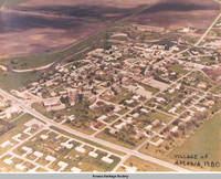 Aerial view Amana showing Price Creek, Amana, Iowa, 1980?