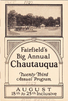 1927 Fairfield Chautauqua program