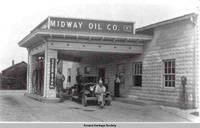 Gas station, South Amana, Iowa, ca. 1930s