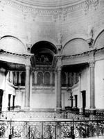 Capitol floor east wall before art work was completed