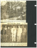 Two articles  about the H.E. Neff home and  Grundy County Boy Scout officials,