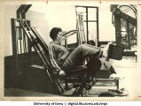 Weight lifting, The University of Iowa, late 1970s