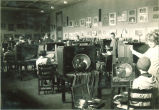 Still life studio with students at easels, The University of Iowa, 1920s