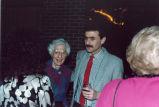 Louise Noun and Neal Benezra at a party, Iowa, 1986