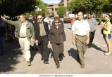 University President Sally Mason leads government officials on tour of flooding, The University of Iowa, June 13, 2008