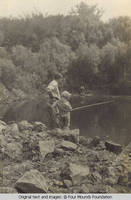 Bill fishing with daughter