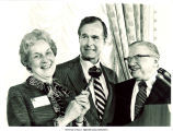 Mary Louise Smith receiving gavel from George H.W. Bush,  Washington, D.C., September 16, 1974