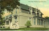Nurses in front of Conn Bros. Hospital, Ida Grove, Iowa, 1910s