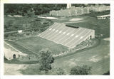 Aerial view of Kinnick Stadium and University of Iowa Hospitals and Clinics, the University of Iowa, 1930