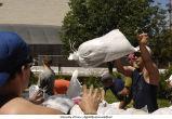 Volunteers sandbagging outside Iowa Advanced Technology Laboraties, The University of Iowa, June 14, 2008