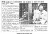 """UI honoree decided to make a difference,"" July 30, 1988"