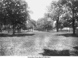 Pentacrest east lawn, The University of Iowa, between 1902 and 1905