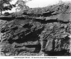 Cross-bedding in coal measure sandstone, Red Rock, Iowa, late 1890s or early 1900s