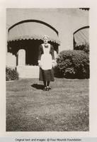Arlene Friedlein in maid uniform