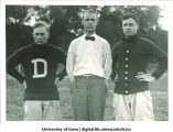 Jesse Hawley, football coach, Nelson Kellogg, athletic director and Morey Eby, assistant coach, The University of Iowa, 1913