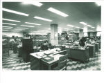 Acquisitions department in the Main Library, the University of Iowa, April 1970