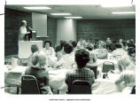 Mary Louise Smith speaking to group, Nashville, Tenn., 1974
