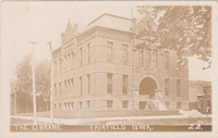 003. Postcard showing the Fairfield, Iowa Public Library in 1912
