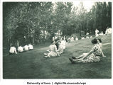 Students at a picnic, The University of Iowa, 1938