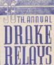 Drake Relays Promotional Post Card, 1947
