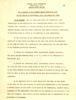 Federal Radio Commission order regarding television station permits, August 22, 1928