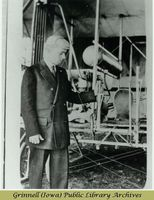 Billy Robinson inspecting control lever