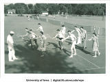 Tennis instruction, The University of Iowa, 1940